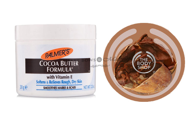 Best Body Shop & Affordable Body Butters: Palmer's Cocoa Butter & TBS Cocoa Body Butter