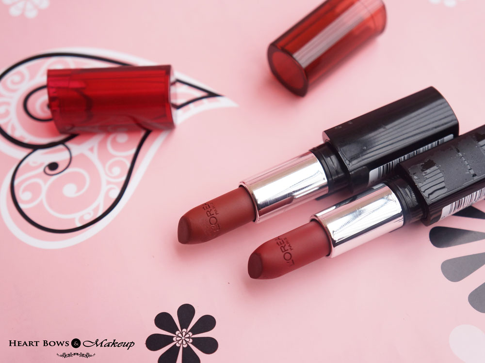 L'Oreal Persistent Plum & Resilient Raisin Lipstick Review & Swatches