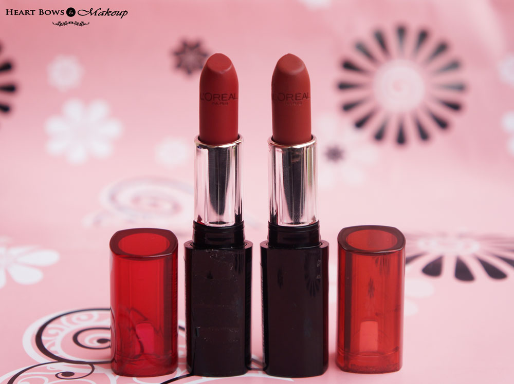 L'Oreal Infallible Lipsticks Persistent Plum & Resilient Raisin Review, Swatches, & Buy Online India