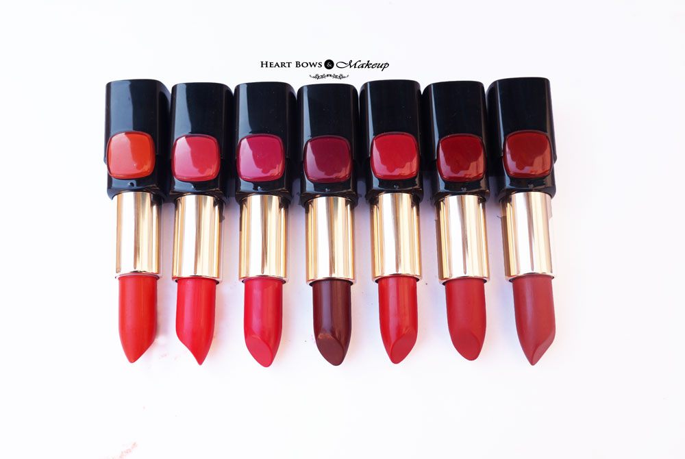 LOreal Red Collection Star Lipstick Review, Swatches & Price India