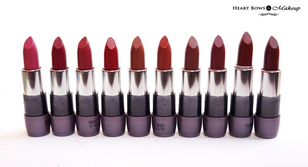 Oriflame The ONE Matte Lipstick Swatches, Review & Shades