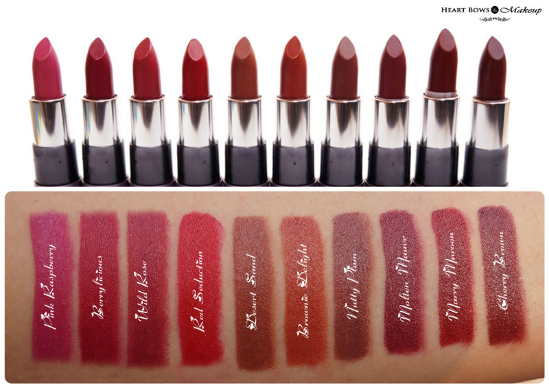 Oriflame The ONE Matte Lipstick Swatches & Review