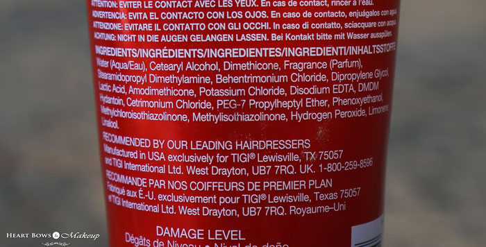 Tigi Bed Head Urban Anti Dotes Resurrection Conditioner Ings Review