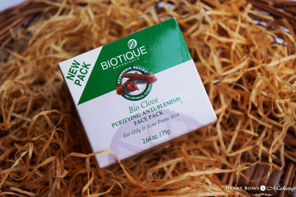 Biotique Bio Clove Purifying Anti Blemish Face Pack Review, Price & Buy Online India