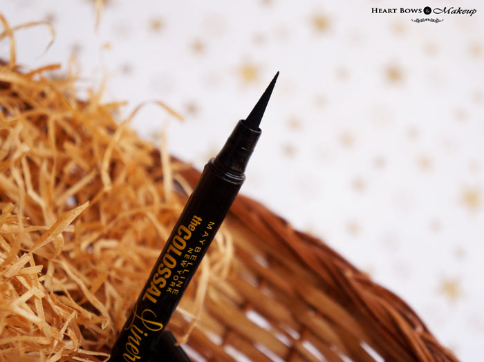Maybelline The Colossal Liner Review & Swatches: Best Liquid Eyeliner for Beginners