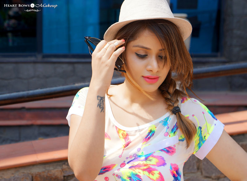 Indian Fashion Beauty Blogge Side Braid & Fedora Hat