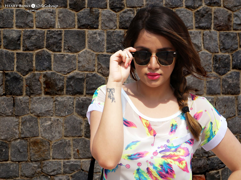 Indian Fashion Beauty Blogger Side Braid & Sunnies