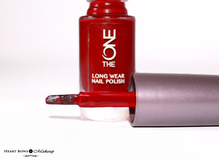 Marsala Nail Polish Oriflame The ONE Ruby Rouge Nail Paint Review Swatches