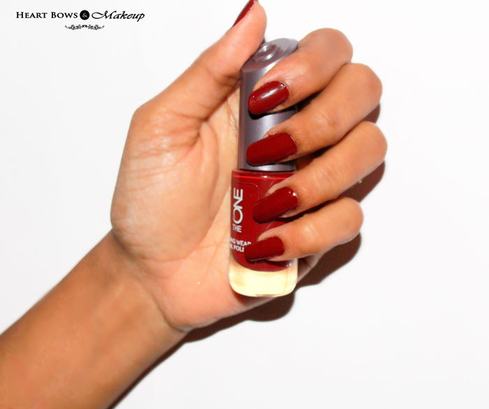 Oriflame The ONE Nail Polish Ruby Rouge Swatches NOTD Review
