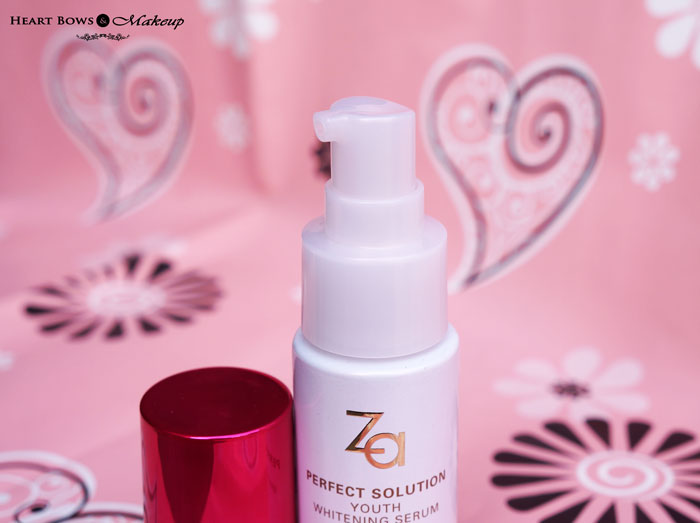 ZA Perfect Solution Whitening Serum Review & Price India