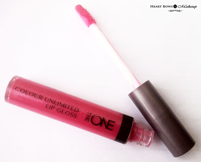 Affordable Pink Lip Gloss India Oriflame The ONE Colour Unlimited Lip Gloss Review