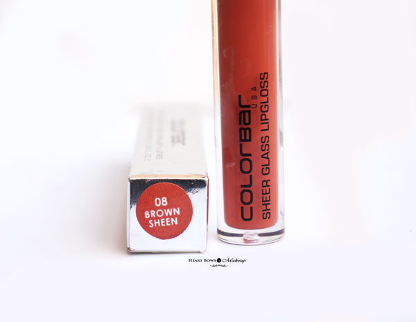 Colorbar Brown Sheen Lipgloss Review Swatches