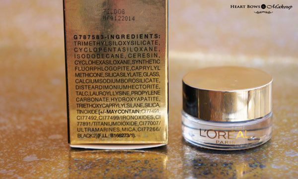 L'Oreal Paris Gel Eye Liner Royal Blue Ingredients Review