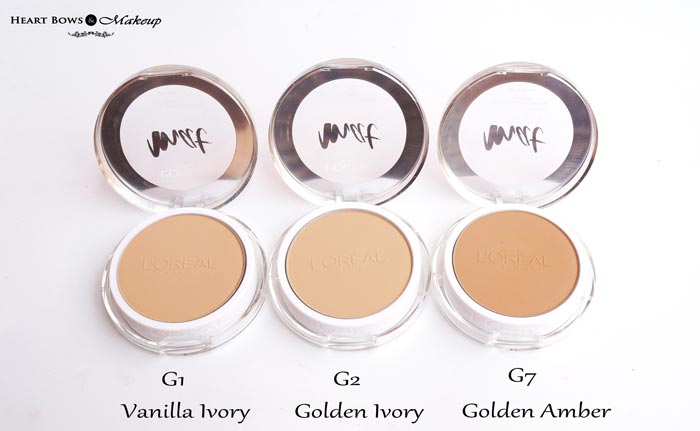 L'Oreal Paris Mat Magique All In One Transforming Powder Compact G1 G2 G7 Review Swatches
