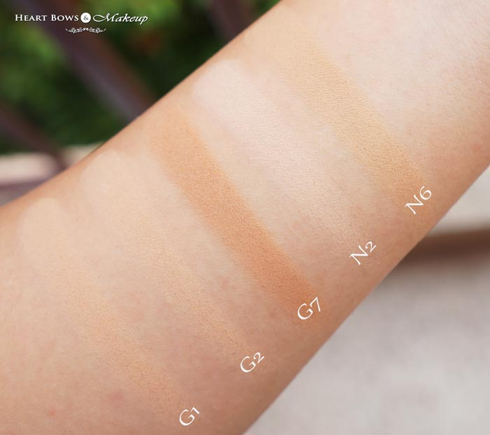 L'Oreal Paris Mat Magique Transforming Powder Compact Swatches Shades Review G1 G2 G7 N2 N6