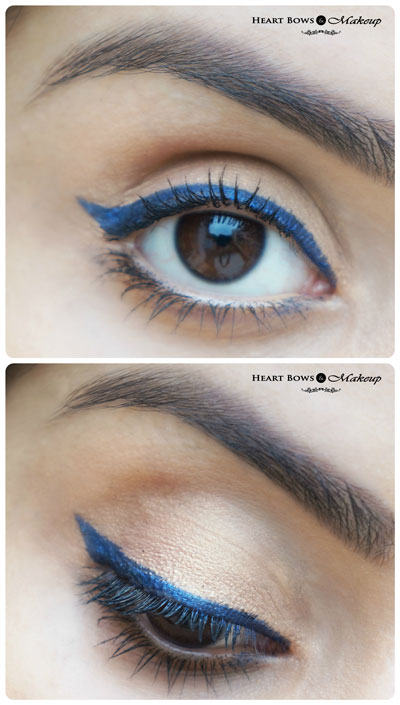 L'Oreal Paris Super Liner Gel Intenza Royal Blue Swatches EOTD Review