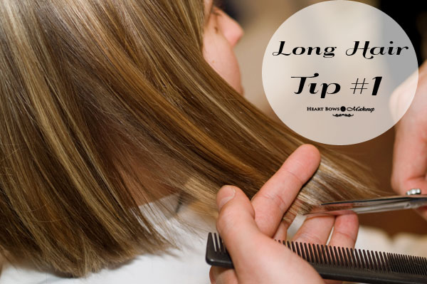 Long Hair Tips Regular Trimming
