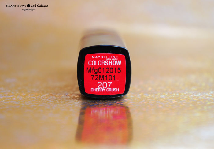 Maybelline Cherry Crush Lipstick Review Swatches