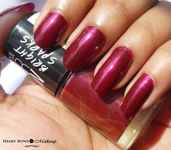 Maybelline Color Show Bright Sparks Nail Polish Glowing Wine Swatches NOTD Review