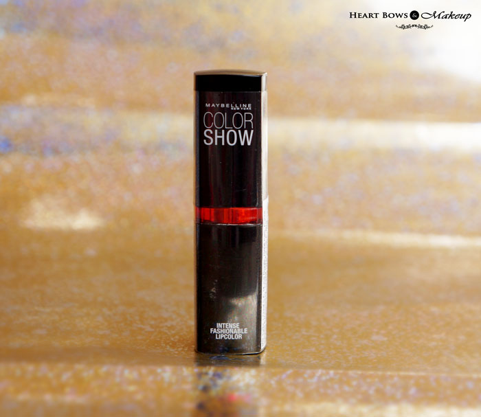 Maybelline Color Show Lipstick Cherry Crush Review Swatches Price Buy India