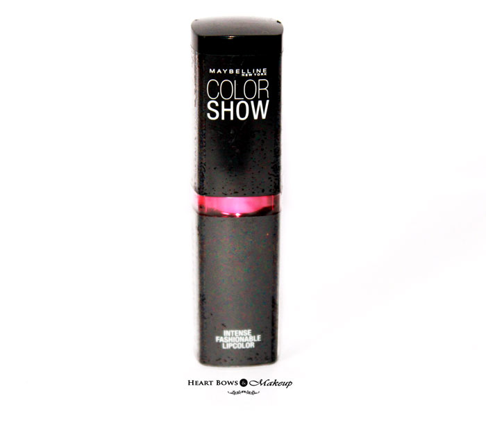 Maybelline Color Show Lipstick Fuchsia Flare Review Swatches Price Buy India