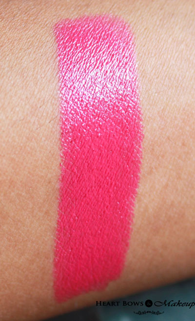 Maybelline Color Show Lipstick Fuchsia Flare Swatches Review