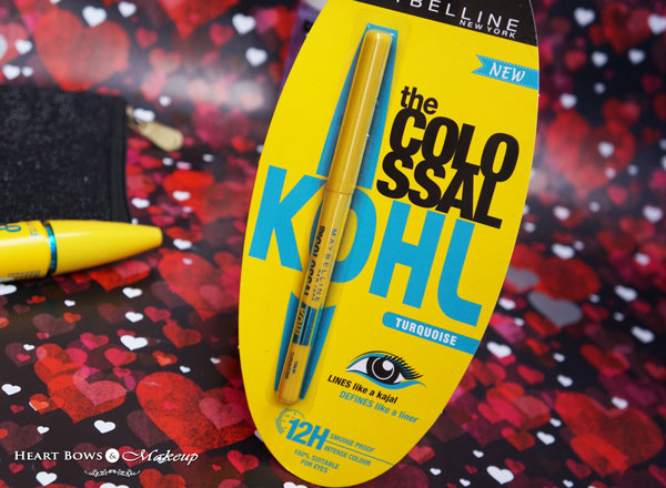 Maybelline Eye Makeup Kit Maybelline The Colossal Turquoise Kohl Review