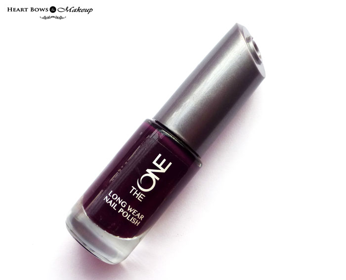 Oriflame The ONE Long Wear Nail Polish Purple In Paris Review Swatches Price Buy India