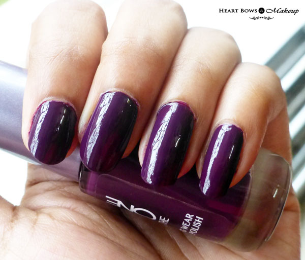 Oriflame The ONE Nail Polish Purple In Paris Swatches NOTD Review
