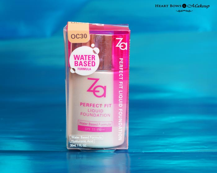 Za Perfect Fit Liquid Foundation OC 30 Review Swatches Price & Buy India