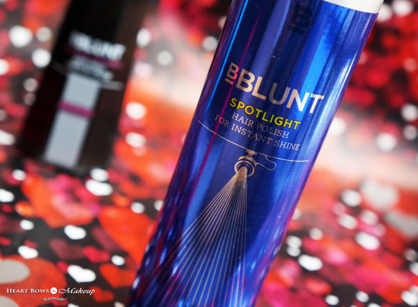 Bblunt Spotlight Hair Polish For Instant Shine Spray Review Price Buy Online India