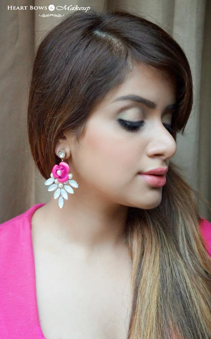 Best Coral Blush India Faces Glam On Perfect Blush Coral Pink Swatch FOTD Review