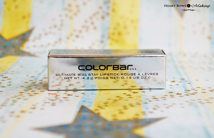 Colorbar Ultimate 8hrs Stay Lipstick Review Swatches Price Buy India