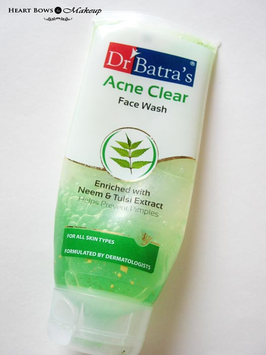 Dr Batra's Neem & Tulsi Acne Clear Face Wash Review Price India