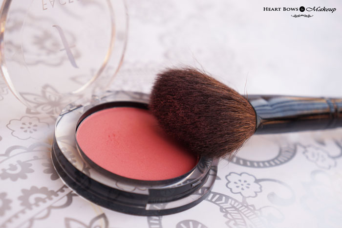 Faces Blush Coral Pink Review Swatches