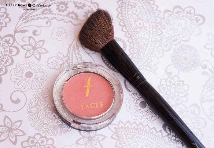 Faces Glam On Perfect Blush Coral Pink Review Swatches Price