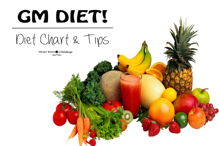 GM Diet Plan Diet Chart & Tips
