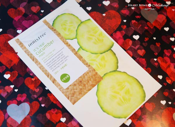 Innisfree Its Real Cucumber Mask Review Price India