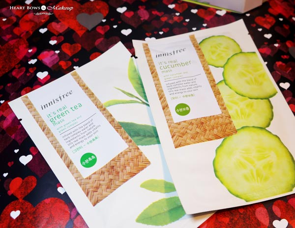 Innisfree Its Real Green Tea Cucumber Sheet Mask Review Price Buy India