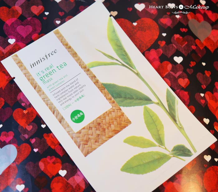 Innisfree Its Real Green Tea Mask Review Price India