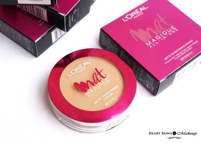 L'Oreal Paris Mat Magique Compact Powder Review Price India