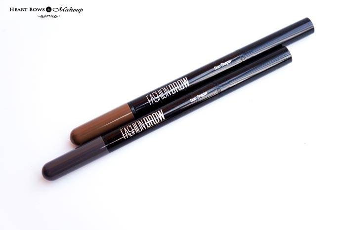 Maybelline Fashion Brow Duo Shaper Brown Grey Review Swatches Price Buy India