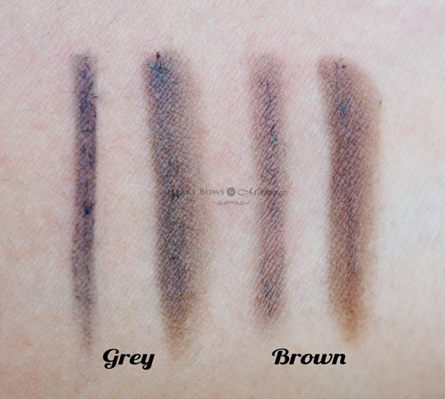 Maybelline Fashion Brow Duo Shaper Grey Brown Swatches Review