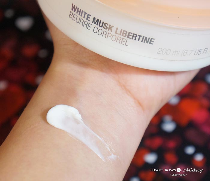 The Body Shop White Musk Body Butter Review Swatch