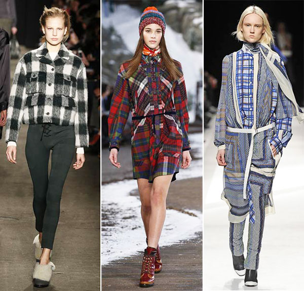 Fall Winter Trends Prints 2015 Checks & Plaid