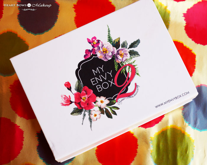 My Envy Box October 2015 Review Products Samples 2nd Anniversary Special