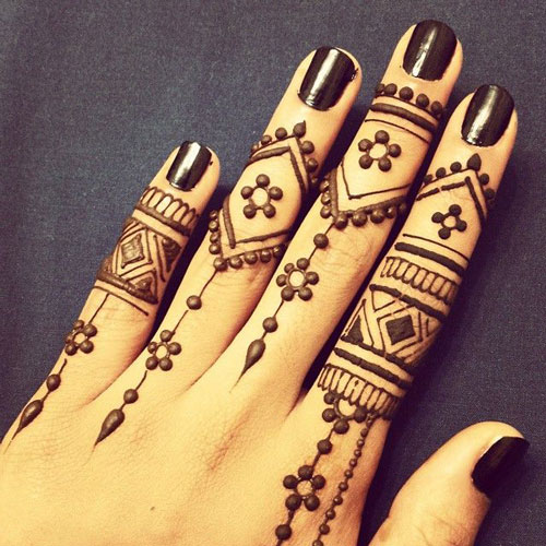 Simple Mehendi Design Pictures