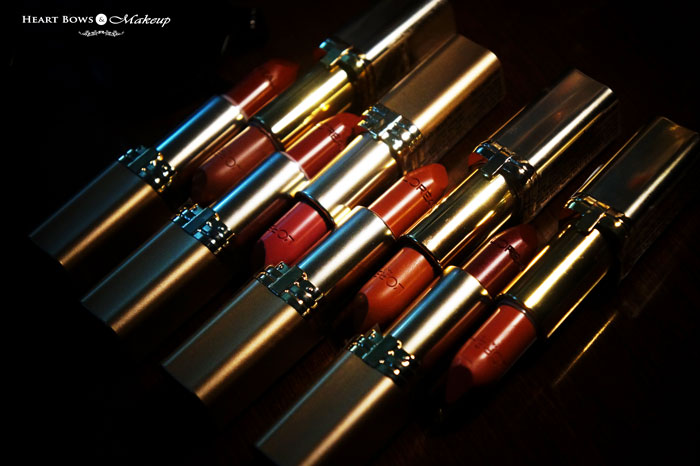 Best Brown Lipsticks India L'Oreal Color Riche Lipsticks