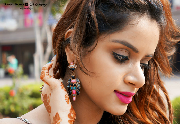Indian Beauty Blog Winged Liner & Bold Pink Lips