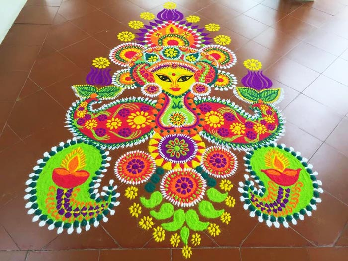 Intricate Rangoli Designs For Diwali 2015